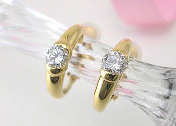 K18YGダイヤモンドイヤリング