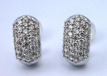 K18WGダイヤモンドイヤリング